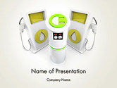 Gas+furnace: Car Charging Stations PowerPoint Template #14004