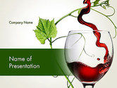 Food & Beverage: Red Wine Glass PowerPoint Template #14021