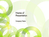 Abstract/Textures: Light Green Circles PowerPoint Template #14031