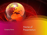 Global: Red Globe Theme PowerPoint Template #14042