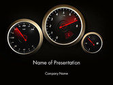 Cars and Transportation: Car Dashboard Design PowerPoint Template #14048
