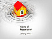 Careers/Industry: House in the Labyrinth Center PowerPoint Template #14091