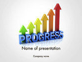 3D: Building a Strong Business PowerPoint Template #14114