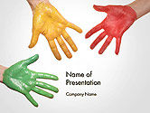 Art & Entertainment: Painted Hands PowerPoint Template #14149