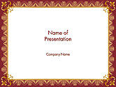 Education & Training: Certificate of Achievement Frame PowerPoint Template #14153