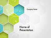 Abstract/Textures: Hexagons with Floral Background PowerPoint Template #14175