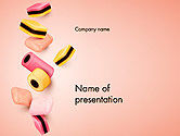 Food & Beverage: Sweet Candies PowerPoint Template #14176