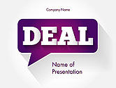 Business Concepts: Word Deal PowerPoint Template #14180