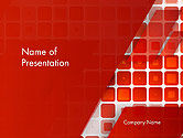 Abstract/Textures: Red Tiled Squares Abstract PowerPoint Template #14196