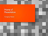 Abstract/Textures: Mosaic Background of Gray Squares PowerPoint Template #14227