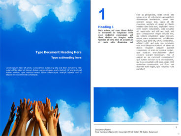 PowerPoint Diagrams Word And Brochure Templates PoweredTemplate - Download brochure template word