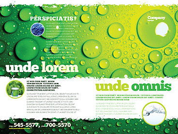 Green Water Drops Brochure Template