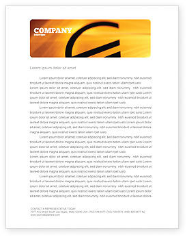 Yellow Colored Euro Currency Letterhead Template