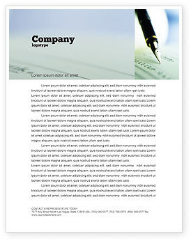 Signing of Check Letterhead Template, 00634, Financial/Accounting — PoweredTemplate.com
