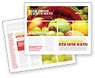 Food & Beverage: Fresh Fruits Of Summer Brochure Template #00689