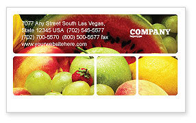 Food & Beverage: Fresh Fruits Of Summer Business Card Template #00689