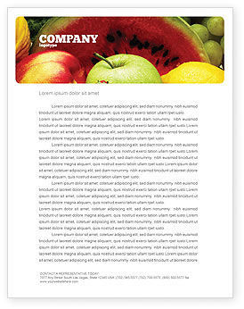 Food & Beverage: Fresh Fruits Of Summer Letterhead Template #00689