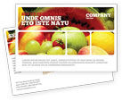 Food & Beverage: Fresh Fruits Of Summer Postcard Template #00689