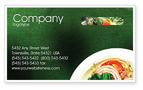 Banquet Business Card Template, 00725, Food & Beverage — PoweredTemplate.com
