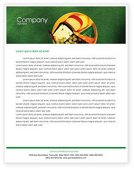 Banquet Letterhead Template, 00725, Food & Beverage — PoweredTemplate.com