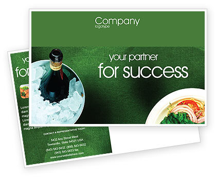 Banquet Postcard Template, 00725, Food & Beverage — PoweredTemplate.com