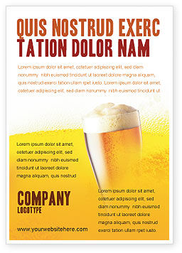 Food & Beverage: Beer Tumbler Advertentie Template #00750