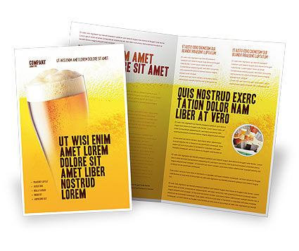 Food & Beverage: Beer Tumbler Brochure Template #00750
