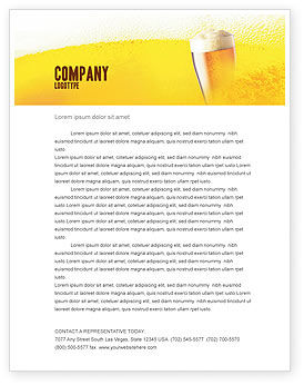 Food & Beverage: Beer Tumbler Letterhead Template #00750