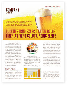 Beer Tumbler Newsletter Template, 00750, Food & Beverage — PoweredTemplate.com