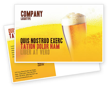 Food & Beverage: Beer Tumbler Postcard Template #00750
