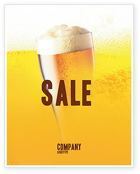 Beer Tumbler Sale Poster Template