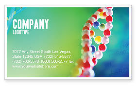 DNA Business Card Template, 00759, Technology, Science & Computers — PoweredTemplate.com