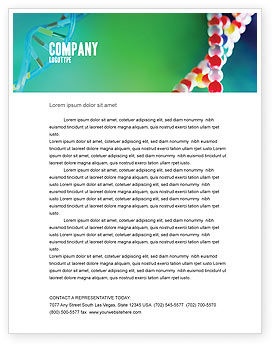 DNA Letterhead Template, 00759, Technology, Science & Computers — PoweredTemplate.com