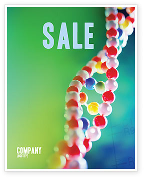 Technology, Science & Computers: DNA Sale Poster Template #00759