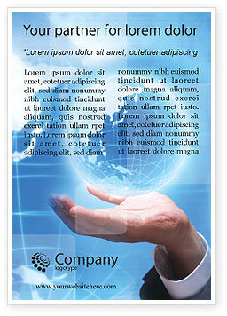 Global: Crystal Globe Advertentie Template #00763