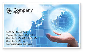 Global: Crystal Globe Business Card Template #00763