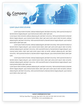 Global: Crystal Globe Letterhead Template #00763