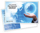 Global: Crystal Globe Postcard Template #00763