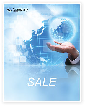 Crystal Globe Sale Poster Template, 00763, Global — PoweredTemplate.com
