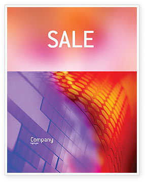 Bright Crosswords Sale Poster Template, 00773, Abstract/Textures — PoweredTemplate.com
