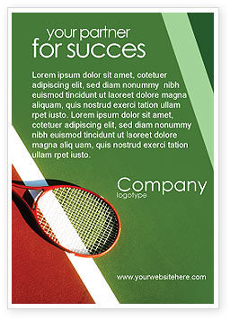 Tennis Rackets Advertentie Template, 00807, Sport — PoweredTemplate.com