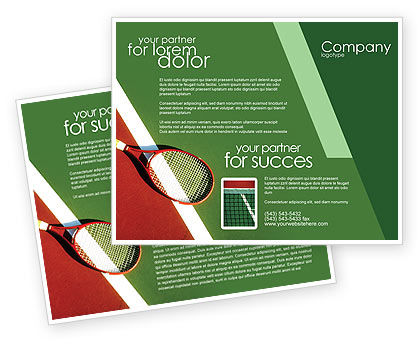 Tennis rackets brochure template design and layout for Sports brochure templates