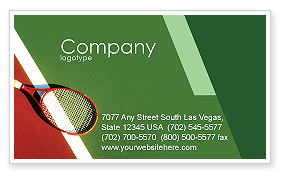 Sports: Tennis Rackets Business Card Template #00807