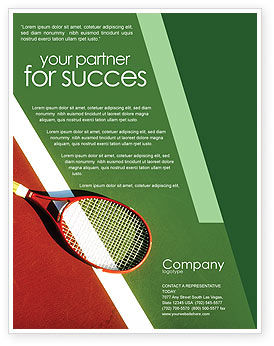 Tennis Rackets Flyer Template, 00807, Sports — PoweredTemplate.com