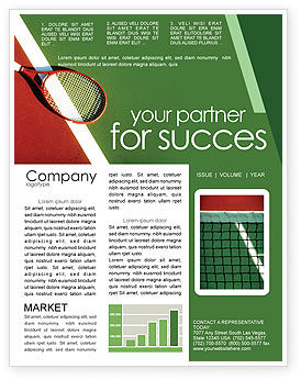 Sports: Tennis Rackets Newsletter Template #00807