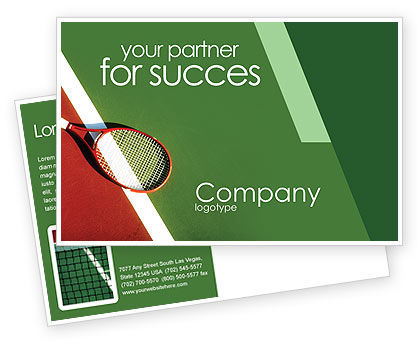 Tennis Rackets Postcard Template, 00807, Sports — PoweredTemplate.com