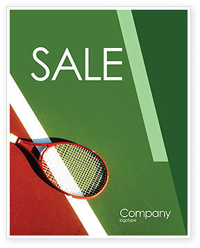 Tennis Rackets Sale Poster Template, 00807, Sports — PoweredTemplate.com