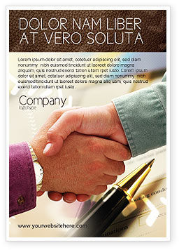 Signing Agreement Ad Template, 00925, Business — PoweredTemplate.com