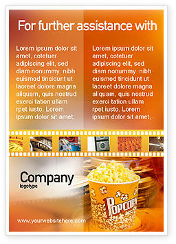 Popcorn Ad Template, 00962, Art & Entertainment — PoweredTemplate.com
