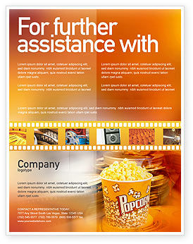 Art & Entertainment: Popcorn Flyer Template #00962
